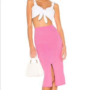 NWT Free People Pink Skyline Midi Skirt